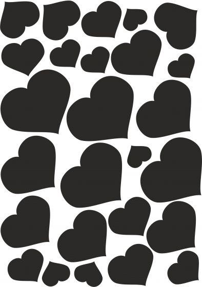 Hjerter2 på A4- ark til Wall-stickers vr nr 3846
