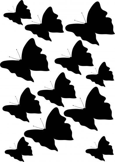 Sommerfugle1 på A4-ark, konturskåret vr nr 3820