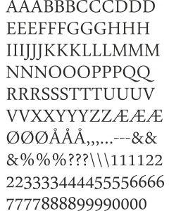 DaunPenh, A4 ark,  15 mm store bogstaver.