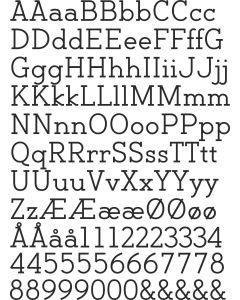 Backtalk Serif BTN, A4 ark, 20 mm og 12 mm