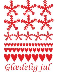 Snefnug og hjerter, A4 ark