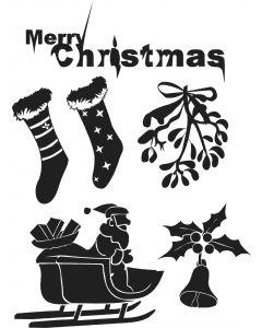 Ark med jule stickers, A4 ark