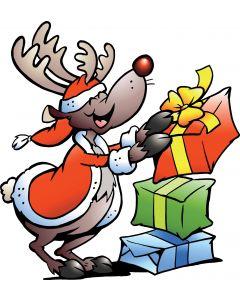 Rensdyr med gaver