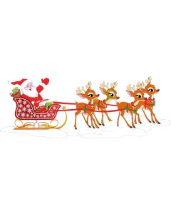 Julemanden i sin slæde