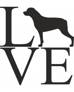 """Love"" Rottweiler"