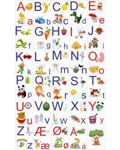 ABC Sæt, ark, m. hvid baggrund