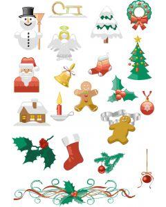 Ark med julemotiver, A4 ark