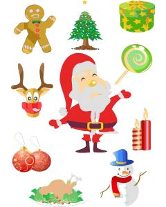 Ark med små julemotiver, A4