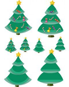Ark med juletræer, A4 ark