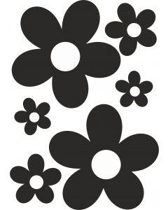 Blomster1 på A4 ark, konturskåret. vr nr 3802