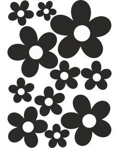 Blomster på A4-ark