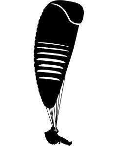 Paraglider, konturskåret, 1303 fra