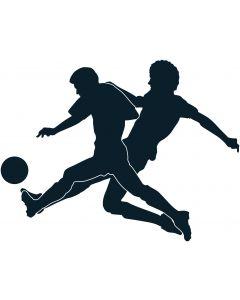 2 fodboldspiller med bold