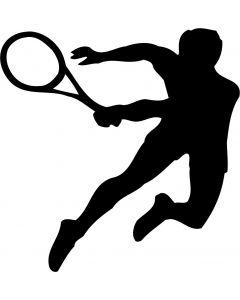 Tennisspiller, konturskåret, vr nr 408  Fra