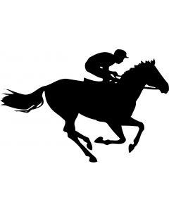 Hest med rytter