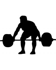 Vægtløfter, konturskåret, 1101 fra