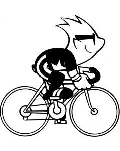 Sjov cykelrytter, 704 fra