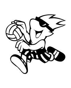 Håndboldspiller, str. ca 10 x 13 cm