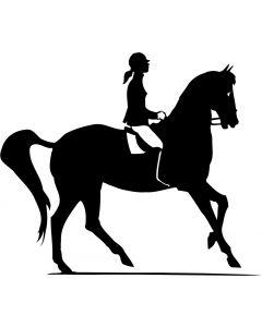 Hest med rytter 3