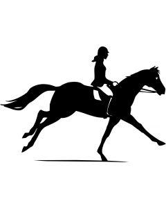 Hest med rytter 4