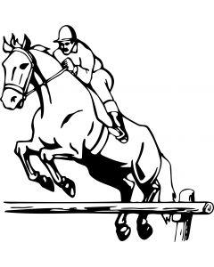 Hest, 15,5 x 16 cm.