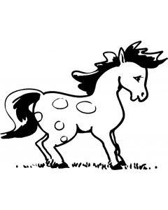 Hest, 11,5 x 15 cm.