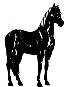 Hest, 10 x 13,5 cm.