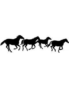 Hest, 5 x 20 cm.
