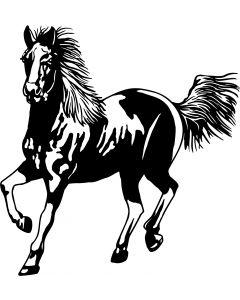 Hest, 13 x 14 cm.