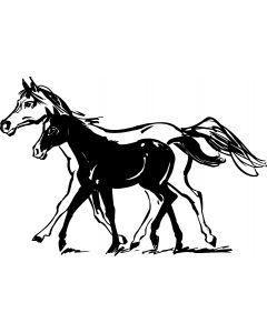 Hest, 10 x 16 cm.