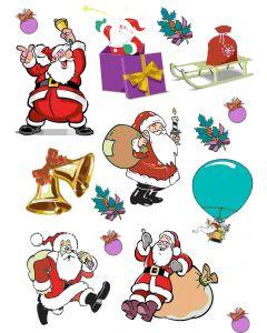 Ark med diverse julemotiver, A4 ark