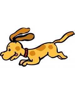 Sød løbende hund