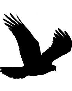 Skræmmefugl, str 20 x 18 cm