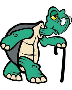 Skildpadde med stok