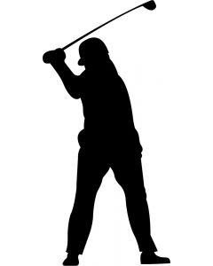 Golfspiller mand