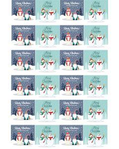 Julemærkater A4 ark