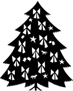 Juletræ med sløjfer