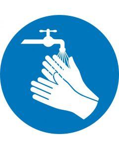 """Påbudsskilt """" Husk at vaske hænder """""""