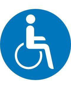 """Påbudsskilt """" Kørestolsbrugere """""""