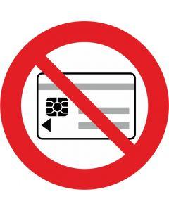 """Forbudsskilt  """" Magnetkort forbudt """""""