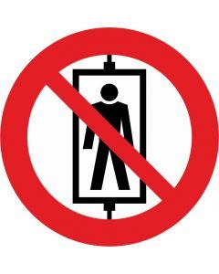 """Forbudsskilt """" Brug ikke elevatoren """""""