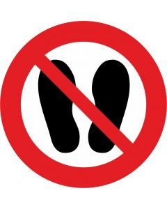 "Forbudsskilt ""Ingen sko - tak"""