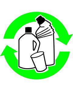 """Recycle skilt """" Plast """""""