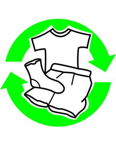 "Recycle skilt "" Tøj """