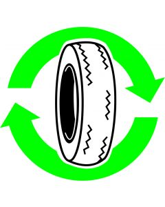 "Recycle skilt "" Dæk """