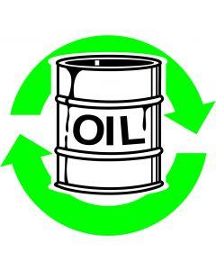 """Recycle skilt """" olie """""""