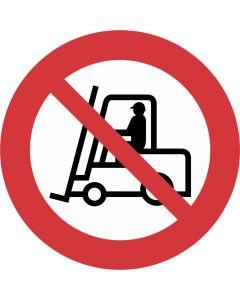 """Forbudsskilt """" Truckkørsel forbudt"""""""
