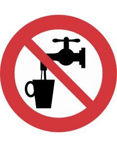 """Forbudsskilt """" Ikke drikkevand"""""""