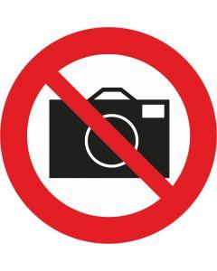 """Forbudsskilt """"Fotografering forbudt"""""""