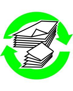 """Recycle skilt """" Avis """""""